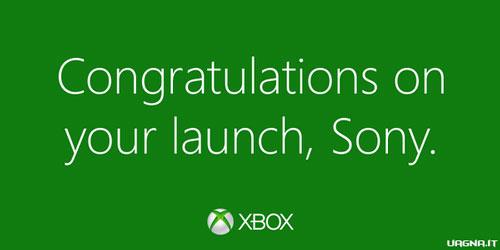 Microsoft si complimenta con Sony per il lancio di PS4