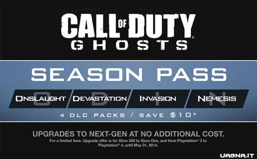 Ufficializzati i nomi dei quattro DLC di Ghosts