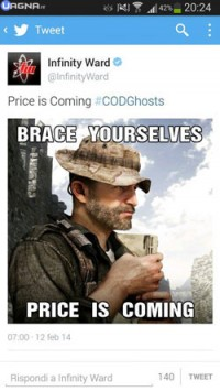 Il Capitano Price in arrivo su Call of Duty: Ghosts