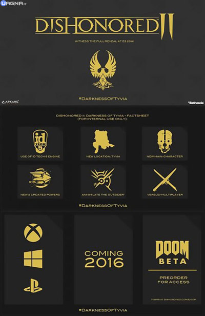 Nuovi rumors per Dishonored II: Darkness of Tyvia