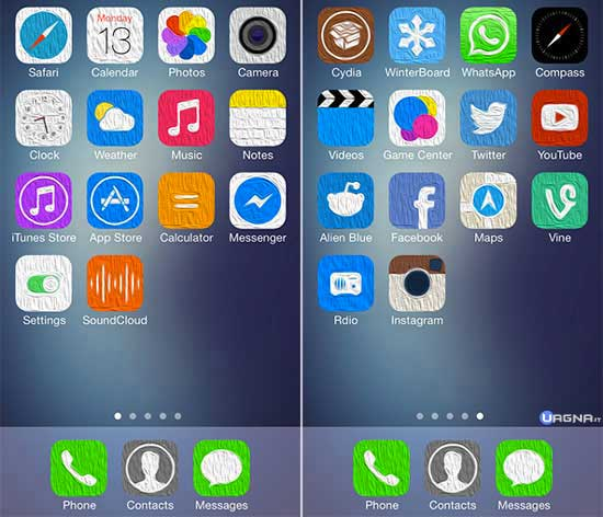 Oil7 -Tema Winterboard iOS 7