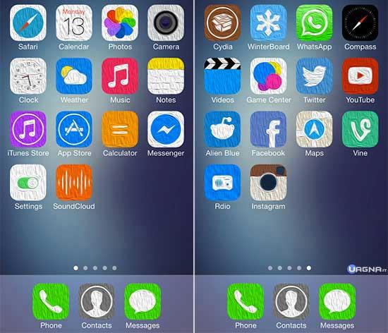 Oil7 -Tema Winterboard iOS 7