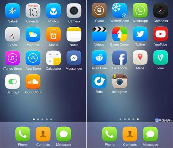 Soft Remix For iOS 7 - Tema Winterboard iOS 7