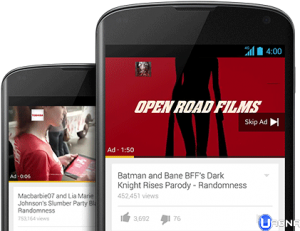 Pubblicità youtube su smartphone