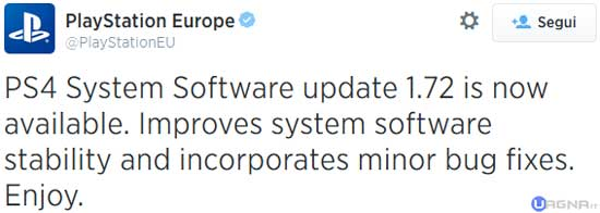 PlayStation 4 Update 1.72