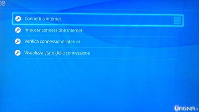 connetti a internet ps4