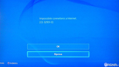 impossibile connettersi a internet ps4