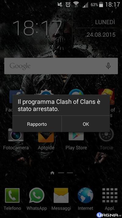clashandoridproblem