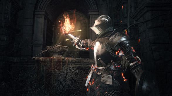 cavaliere con torcia in dark souls 3