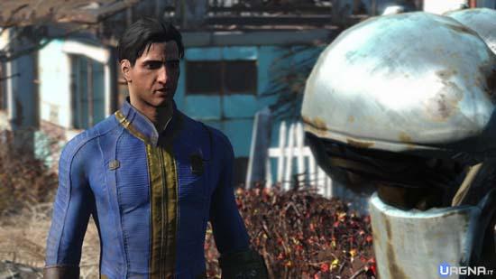 protagonista fallout 4 parla con robot
