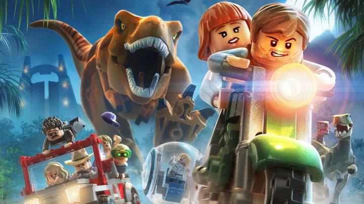copertina del gioco lego jurassic world