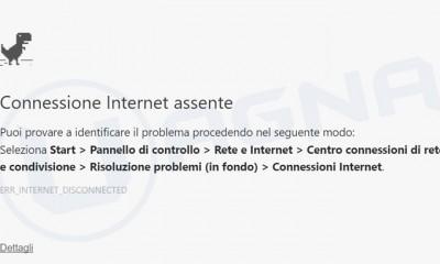 GoogleChromeDinosauroConnessioneInternetAssente