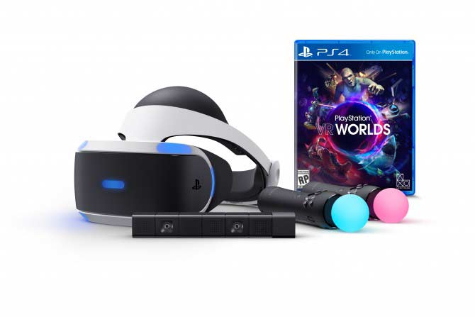 PS VR, Playstation Eye, Playstation Move e videogioco Playstation VR Worlds