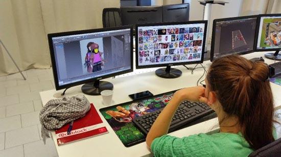 studentessa della digital bros game academy