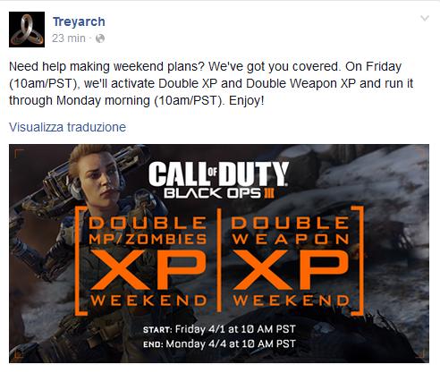 treyarch profilo facebook black ops 3