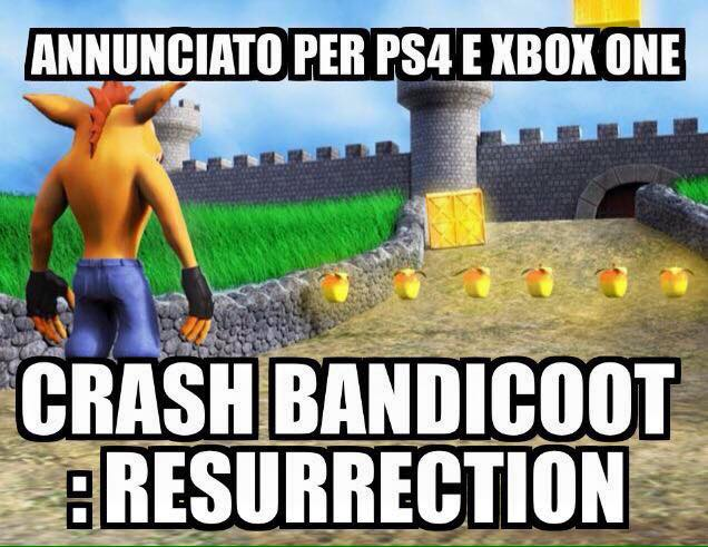 crash bandicoot resurrection fake bufala