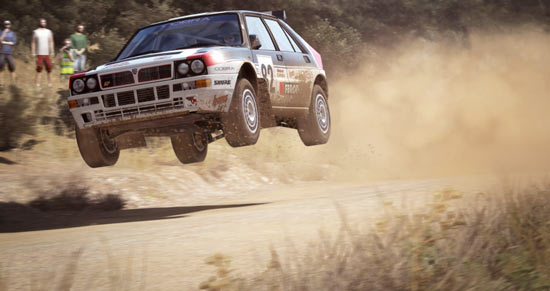 DiRT Rally Lancia Delta in volo