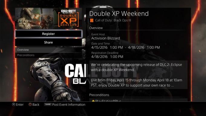 schermata eventi black ops 3
