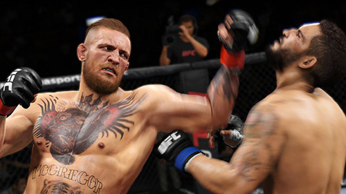 EA UFC Sports 2: McGregor copisce l'avversario con uppercut