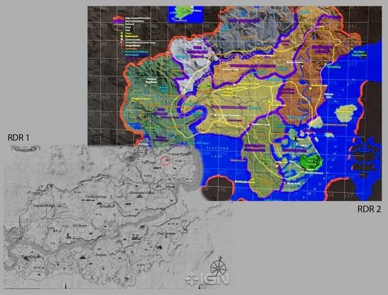 possibile mappa red dead redemption 2