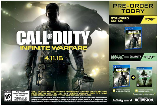 poster promozionale infinite warfare call of duty