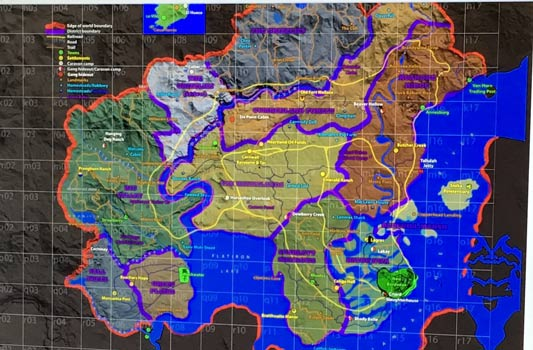 red dead redemption 2 mappa