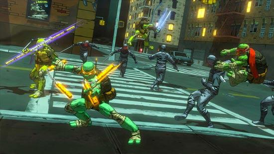Scena d'azione in TMNT Mutanti A Manhattan