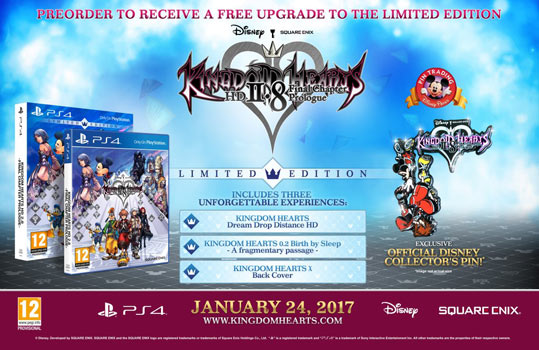 kingdom hearts 2.88 limited edition