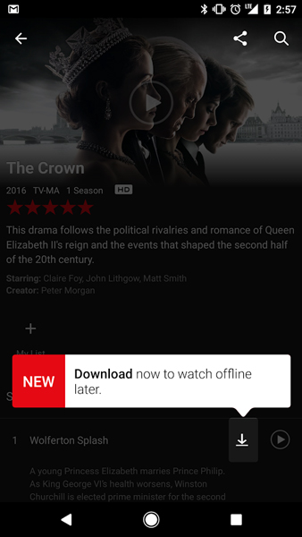 Netflix Download Offline