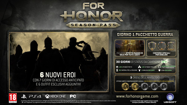 Season Pass For Honor