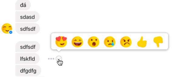 Facebook Messenger Reactions