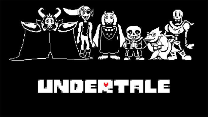 Wallpaper con i personaggi principali di Undertale