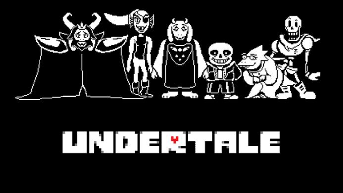Wallpaper con i personaggi principali di Undertale