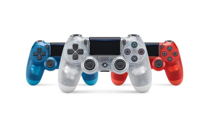 DualShock 4 Crystal Sony tre colori