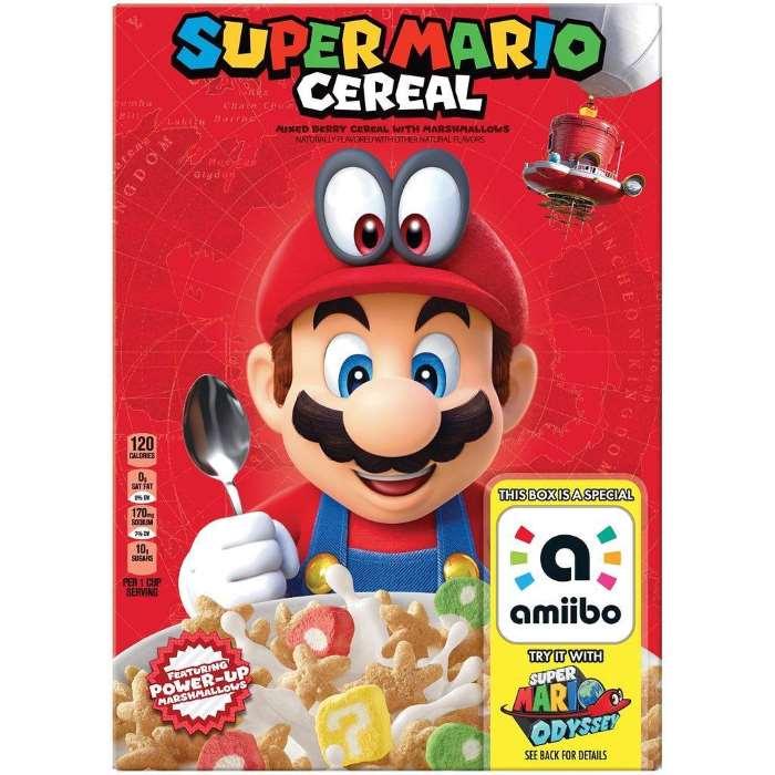 Super Mario Cereal Box Kelloggs