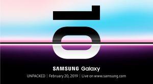 Samsung Unpacked Event Galaxy S10