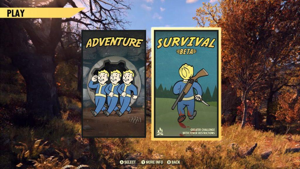 fallout 76 sopravvivenza
