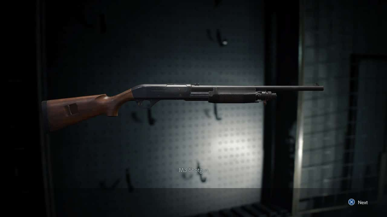 resident evil 3 fucile a pompa
