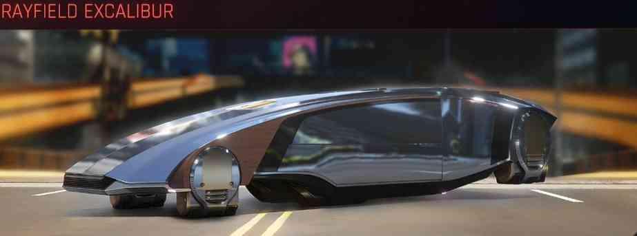 lista veicoli cyberpunk 2077